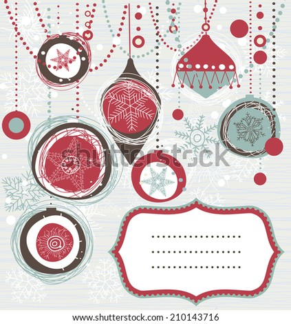 retro Christmas background with place for your text - stock vector