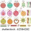 Retro Christmas balls - stock vector
