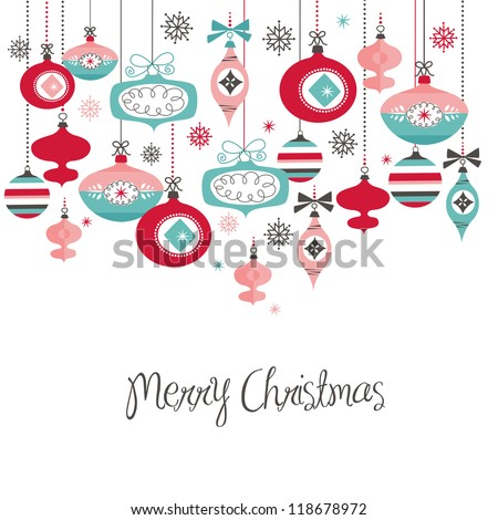 Retro Christmas Balls - stock vector