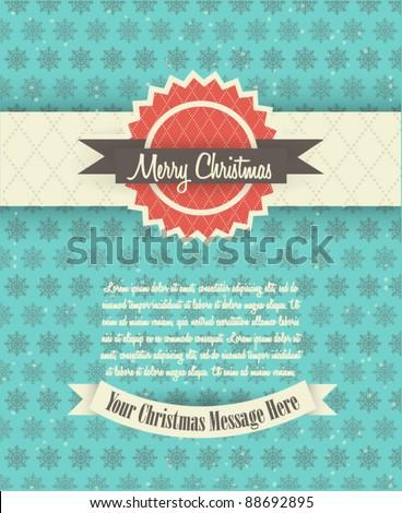 Retro Christmas Card Design - stock vector