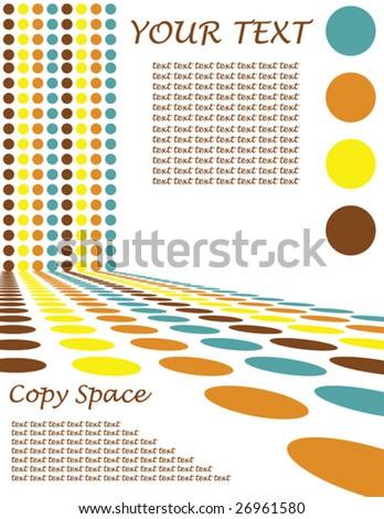 Retro Circle Design Background - Vector illustration - stock vector