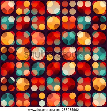 retro circle seamless pattern  - stock vector