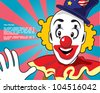 Retro clown design template - stock vector