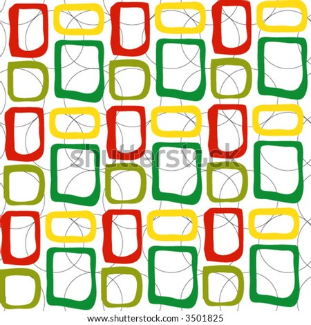 retro colored squares background - vector- - stock vector