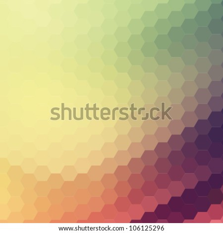 retro colorful background - stock vector