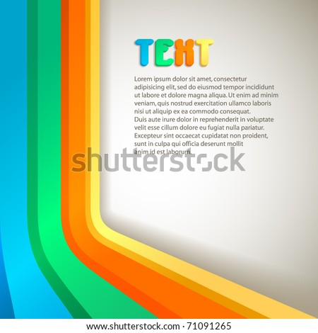 retro colorful vector banner with space for Your text - stock vector