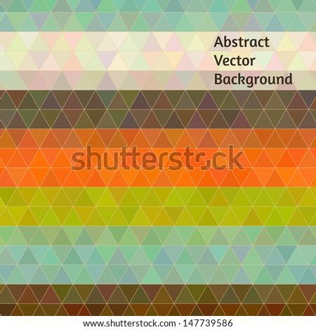 Retro colors vector polygon design - stock vector