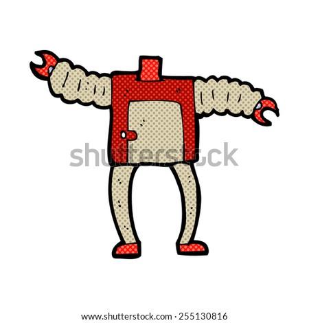 retro comic book style cartoon robot body (mix and match retro comic book style cartoons or add own photos) - stock vector