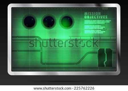 Retro computer game screen - stock vector