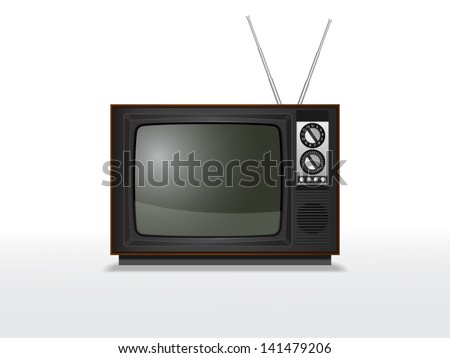 Retro crt tv. File is in eps10 format. - stock vector