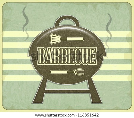 Retro Design Grill and BBQ Menu - Vector illustration - stock vector