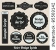 Retro Design Labels - stock vector