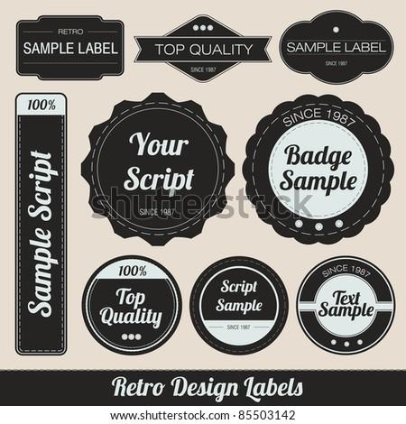 Retro Design Labels - stock vector