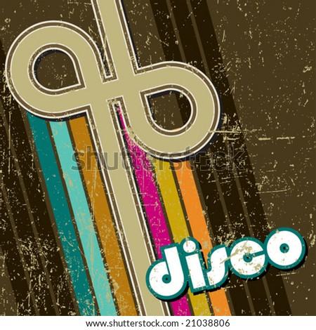 retro disco style - stock vector