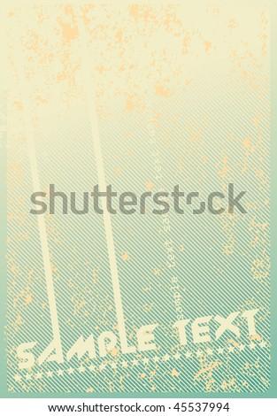 retro discotheque Poster template - stock vector