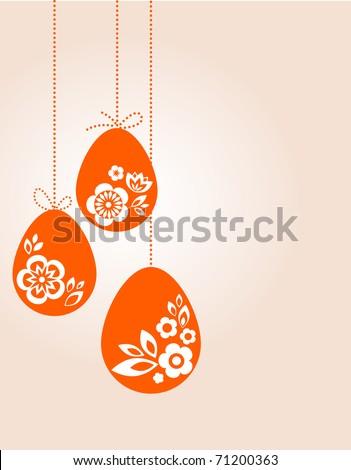 Retro Easter eggs - stock vector