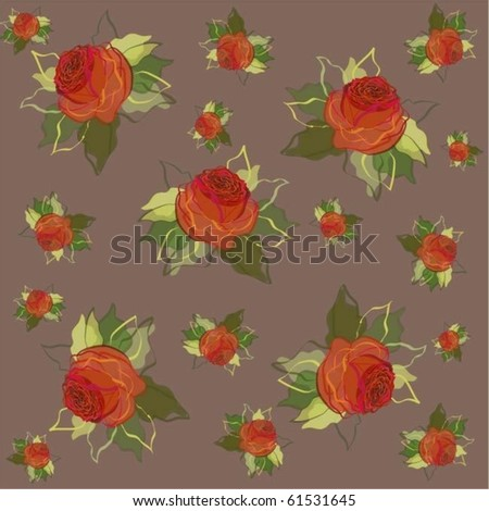Retro floral background.eps10 - stock vector