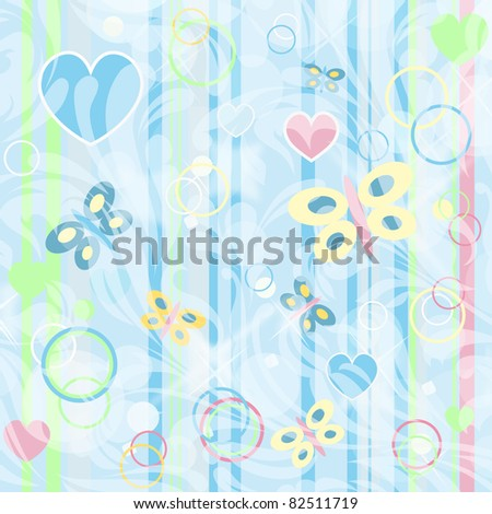 Retro floral background for card with your text isolated on floral backdrop (vector version eps 10) - stock vector