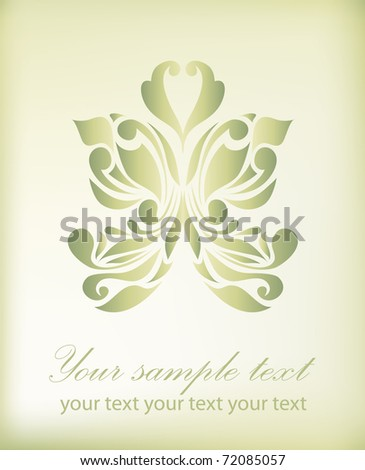 Retro floral background for valentine day (vector version eps 10) - stock vector