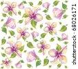 Retro floral background. Hibiscus. eps10 - stock vector