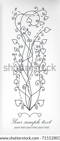 Retro floral background isolated on grey backdrop for valentine day (vector eps 10) - stock vector