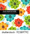 Retro floral background, vector illustration - stock vector