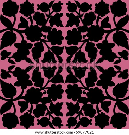 Retro floral seamless - pattern