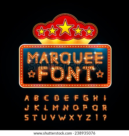 Retro font - stock vector