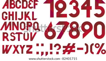 retro font - stock vector