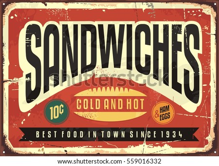 Vintage signs and posters