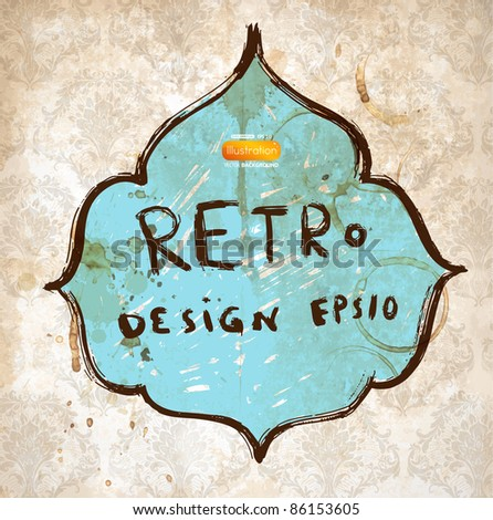 Retro frame - stock vector