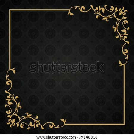 Retro frame. Could be used as invitation card or blank - stock vector