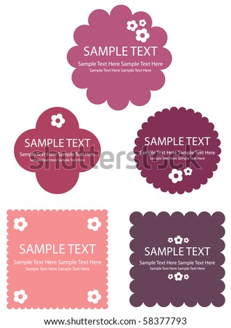 Retro frame designs, Vector. - stock vector