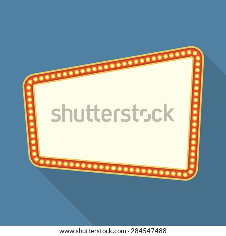 retro frame with lights flat design vector eps10 illustration