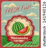 Retro Fresh Food Poster Design - stock photo