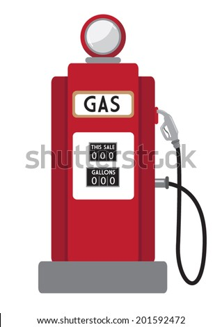 Retro Gas Pump - stock vector