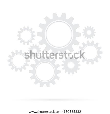 retro gear bridge isolated background - stock vector