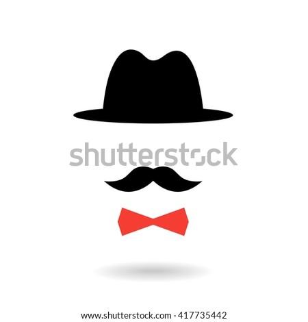 Retro gentleman - stock vector