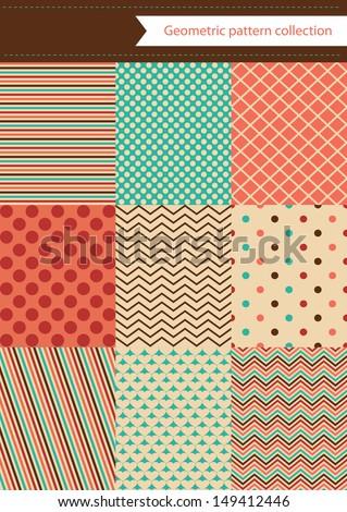retro geometric pattern design. vector illustration - stock vector