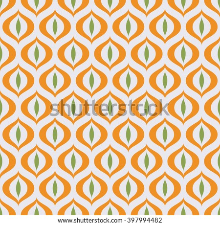 Retro Geometric seamless pattern Cat's eye. Vector illustration - stock vector