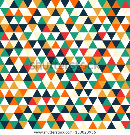 Retro geometric shapes. Colorful mosaic backdrop. Geometric hipster retro background. vector - stock vector