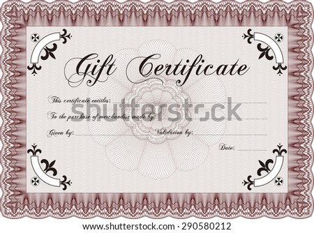 Retro gift certificate template customizable easy stock vector retro gift certificate template customizable easy to edit and change colorstistry design yadclub Image collections