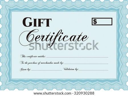 Retro gift certificate template elegant design stock vector retro gift certificate template elegant design vector illustrationeasy to print yelopaper Choice Image