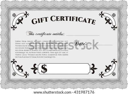 Vector gift certificate template vector illustrationeasy stock retro gift certificate template vector illustration with complex linear background artistry design yelopaper Choice Image