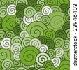 Retro green spirals pattern - stock vector