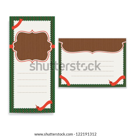 retro greeting card / brochure template