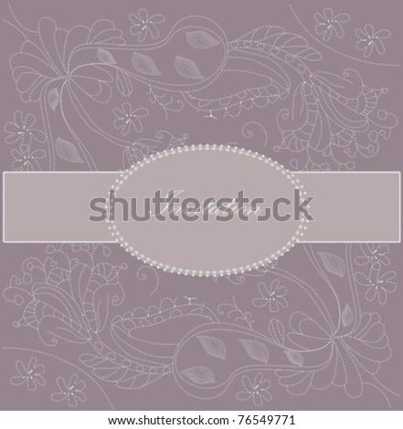 Retro greeting card template design - stock vector
