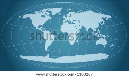retro grid world map - stock vector