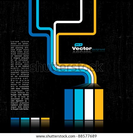 Retro grunge background - vector - stock vector