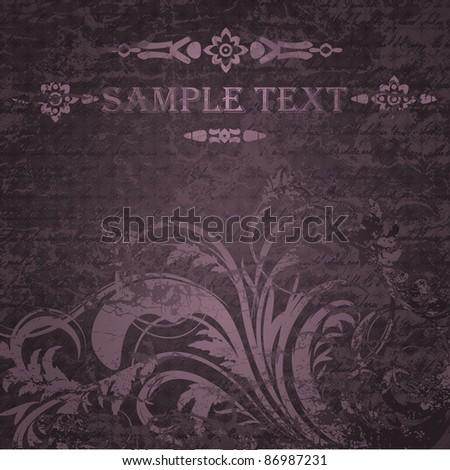 Retro grungy invitation card - stock vector